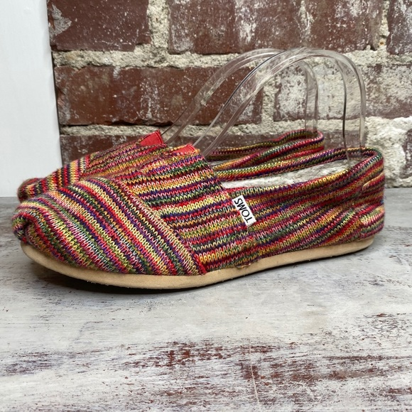 Toms Knit Sweater Multi-color Flats Shoes size 8.5
